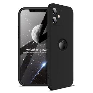 Θήκη GKK Full body Protection 360° από σκληρό πλαστικό για iPhone 12 μαύρο