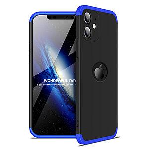 Θήκη GKK Full body Protection 360° από σκληρό πλαστικό για iPhone 12 μαύρο / μπλε