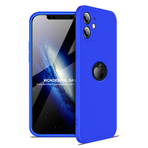 Θήκη GKK Full body Protection 360° από σκληρό πλαστικό για iPhone 12 μπλε
