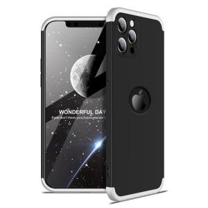 Θήκη GKK Full body Protection 360° από σκληρό πλαστικό για iPhone 12 Pro μαύρο / ασημί