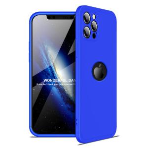 Θήκη GKK Full body Protection 360° από σκληρό πλαστικό για iPhone 12 Pro μπλε