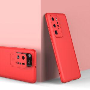 Θήκη GKK Full body Protection 360° από σκληρό πλαστικό για Huawei P40 Pro κόκκινο