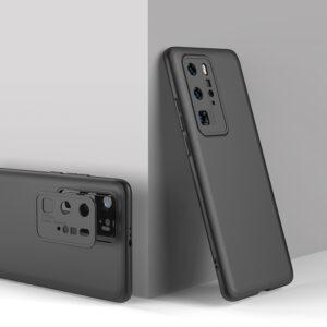 Θήκη GKK Full body Protection 360° από σκληρό πλαστικό για Huawei P40 Pro μαύρο