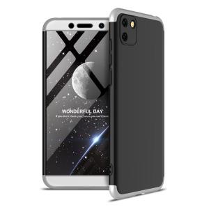 Θήκη GKK Full body Protection 360° από σκληρό πλαστικό για Huawei Y5p μαύρο / ασημί