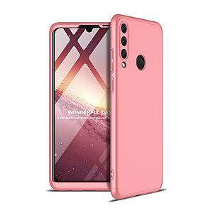 Θήκη GKK Full body Protection 360° από σκληρό πλαστικό για Huawei Y6p ροζ χρυσό