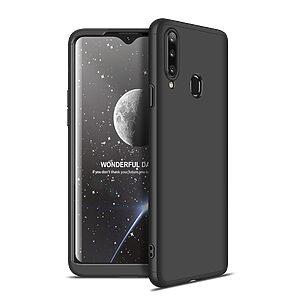 Θήκη GKK Full body Protection 360° από σκληρό πλαστικό για Samsung Galaxy A20S μαύρο