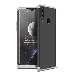 Θήκη GKK Full body Protection 360° από σκληρό πλαστικό για Samsung Galaxy A20S μαύρο / ασημί