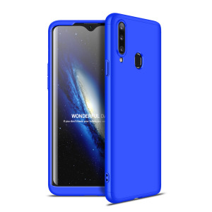 Θήκη GKK Full body Protection 360° από σκληρό πλαστικό για Samsung Galaxy A20S μπλε