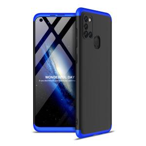 Θήκη GKK Full body Protection 360° από σκληρό πλαστικό για Samsung Galaxy A21S μαύρο / μπλε