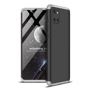 Θήκη GKK Full body Protection 360° από σκληρό πλαστικό για Samsung Galaxy Note 10 Lite μαύρο / ασημί