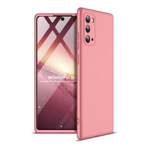 Θήκη GKK Full body Protection 360° από σκληρό πλαστικό για Samsung Galaxy Note 20 ροζ χρυσό