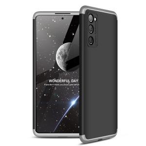 Θήκη GKK Full body Protection 360° από σκληρό πλαστικό για Samsung Galaxy S20 FE μαύρο / ασημί