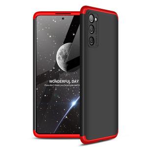 Θήκη GKK Full body Protection 360° από σκληρό πλαστικό για Samsung Galaxy S20 FE μαύρο / κόκκινο