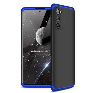 Θήκη GKK Full body Protection 360° από σκληρό πλαστικό για Samsung Galaxy S20 FE μαύρο / μπλε