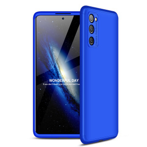 Θήκη GKK Full body Protection 360° από σκληρό πλαστικό για Samsung Galaxy S20 FE μπλε