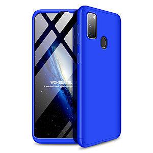 Θήκη GKK Full body Protection 360° από σκληρό πλαστικό για Samsung M21 μπλε