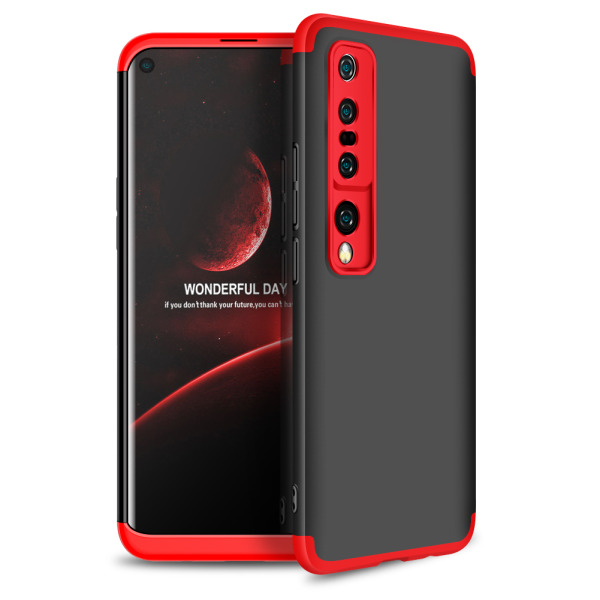 Θήκη GKK Full body Protection 360° από σκληρό πλαστικό για Xiaomi Mi 10 μαύρο / κόκκινο