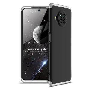 Θήκη GKK Full body Protection 360° από σκληρό πλαστικό για Xiaomi Mi 10T Lite μαύρο / ασημί