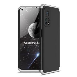 Θήκη GKK Full body Protection 360° από σκληρό πλαστικό για Xiaomi Mi 10T / Mi 10T Pro μαύρο / ασημί
