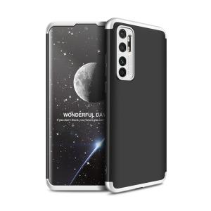 Θήκη GKK Full body Protection 360° από σκληρό πλαστικό για Xiaomi Mi Note 10 Lite μαύρο / ασημί