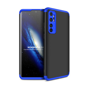 Θήκη GKK Full body Protection 360° από σκληρό πλαστικό για Xiaomi Mi Note 10 Lite μαύρο / μπλε