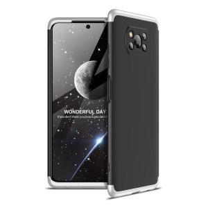 Θήκη GKK Full body Protection 360° από σκληρό πλαστικό για Xiaomi Poco X3 NFC μαύρο / ασημί