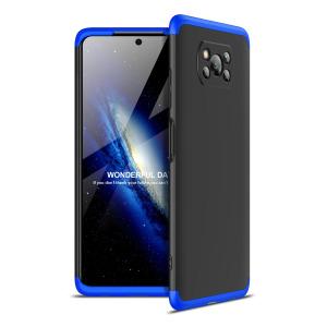 Θήκη GKK Full body Protection 360° από σκληρό πλαστικό για Xiaomi Poco X3 NFC μαύρο / μπλε