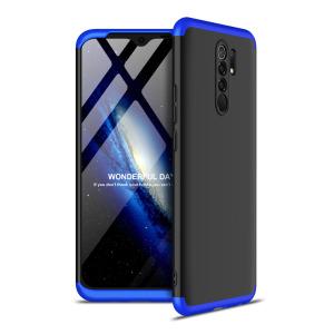 Θήκη GKK Full body Protection 360° από σκληρό πλαστικό για Xiaomi Redmi 9 μαύρο / μπλε