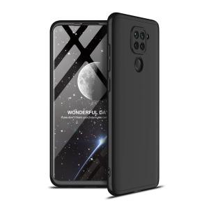 Θήκη GKK Full body Protection 360° από σκληρό πλαστικό για Xiaomi Redmi Note 9 μαύρο