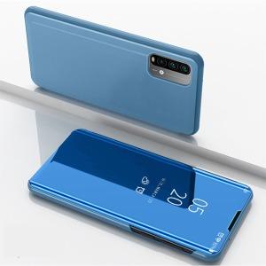 Θήκη Xiaomi Poco M3 OEM Mirror Surface Series Flip Window δερματίνη γαλάζιο