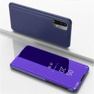 Θήκη Xiaomi Poco M3 OEM Mirror Surface Series Flip Window δερματίνη μωβ