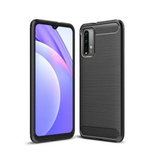 Θήκη Xiaomi Poco M3 OEM Brushed TPU Carbon Πλάτη μαύρο