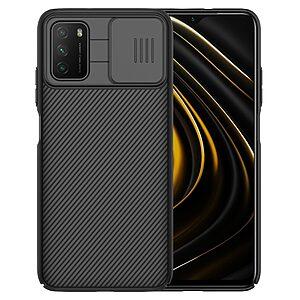 Θήκη Xiaomi Poco M3 NiLLkin Camshield Series Πλάτη με προστασία για την κάμερα από σκλήρό Premium TPU μαύρο