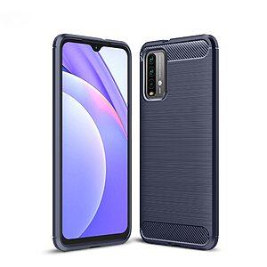 Θήκη Xiaomi Poco M3 OEM Brushed TPU Carbon Πλάτη μπλε
