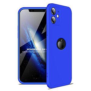 Θήκη GKK Full body Protection 360° από σκληρό πλαστικό για iPhone 12 mini μπλε