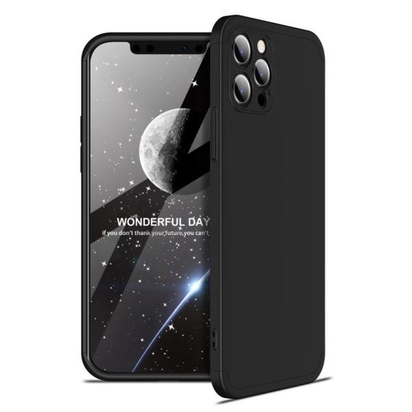 Θήκη GKK Full body Protection 360° από σκληρό πλαστικό για iPhone 12 Pro Max μαύρο