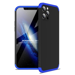 Θήκη GKK Full body Protection 360° από σκληρό πλαστικό για iPhone 12 Pro Max μαύρο / μπλε