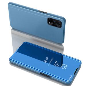 Θήκη Realme 7 Pro OEM Mirror Surface Series Flip Window δερματίνη γαλάζιο