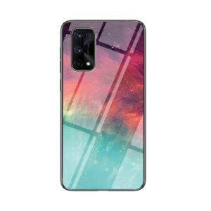 Θήκη Realme 7 Pro OEM σχέδιο Colorful Sky με πλάτη από Tempered Glass και εσωτερικό TPU