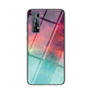 Θήκη Realme 7 OEM σχέδιο Colorful Sky με πλάτη από Tempered Glass και εσωτερικό TPU