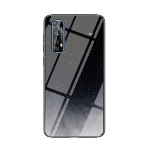 Θήκη Realme 7 OEM σχέδιο Starry Moon με πλάτη από Tempered Glass και εσωτερικό TPU