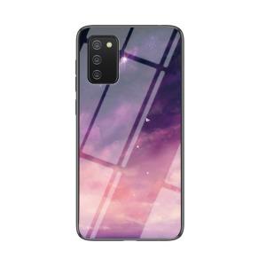 Θήκη Samsung Galaxy A02S OEM σχέδιο Fantasy Sky με πλάτη από Tempered Glass και εσωτερικό TPU