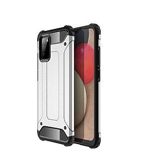 Θήκη Samsung Galaxy A02S OEM Armor Guard Hybrid Πλάτη από σκληρό πλαστικό και TPU ασημί