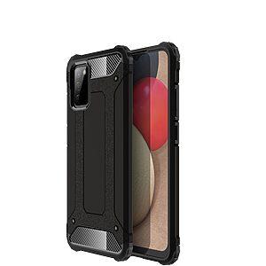 Θήκη Samsung Galaxy A02S OEM Armor Guard Hybrid Πλάτη από σκληρό πλαστικό και TPU μαύρο