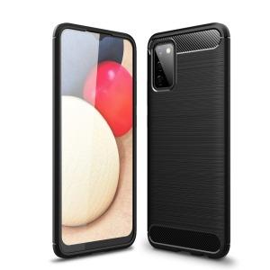 Θήκη Samsung Galaxy A02S OEM Brushed TPU Carbon Πλάτη μαύρο