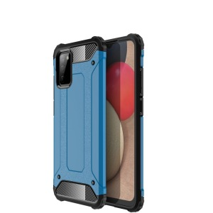 Θήκη Samsung Galaxy A02S OEM Armor Guard Hybrid Πλάτη από σκληρό πλαστικό και TPU μπλε