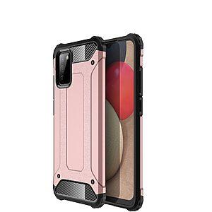Θήκη Samsung Galaxy A02S OEM Armor Guard Hybrid Πλάτη από σκληρό πλαστικό και TPU ροζ χρυσό