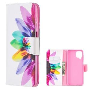 Θήκη Samsung Galaxy A12 OEM Colorful Petals με βάση στήριξης