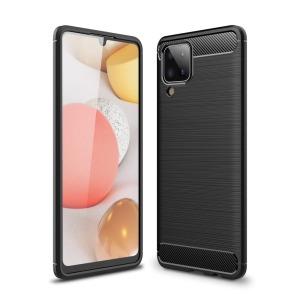 Θήκη Samsung Galaxy A12 OEM Brushed TPU Carbon Πλάτη μαύρο