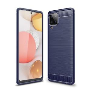 Θήκη Samsung Galaxy A12 OEM Brushed TPU Carbon Πλάτη μπλε σκούρο